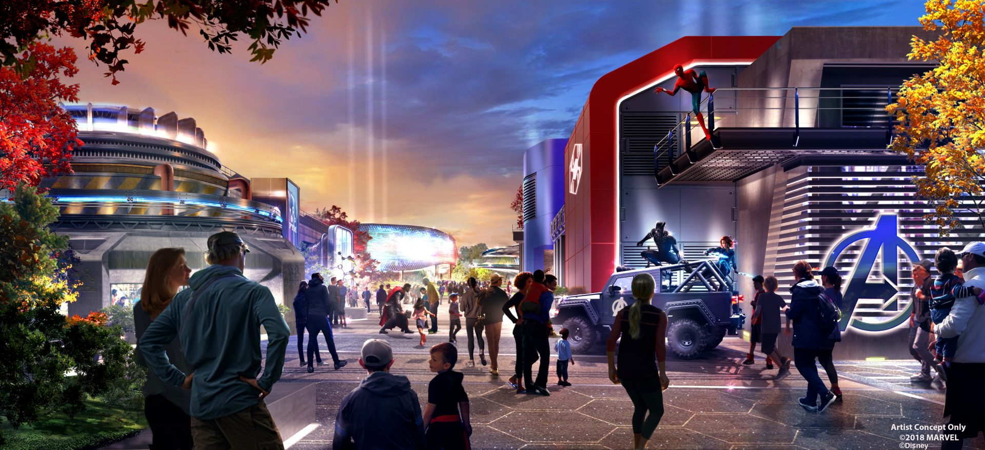 [Parc Walt Disney Studios] Attraction Iron Man et les Avengers (202?) - Page 21 Marvel-Land-Disneyland-Paris-1920x877