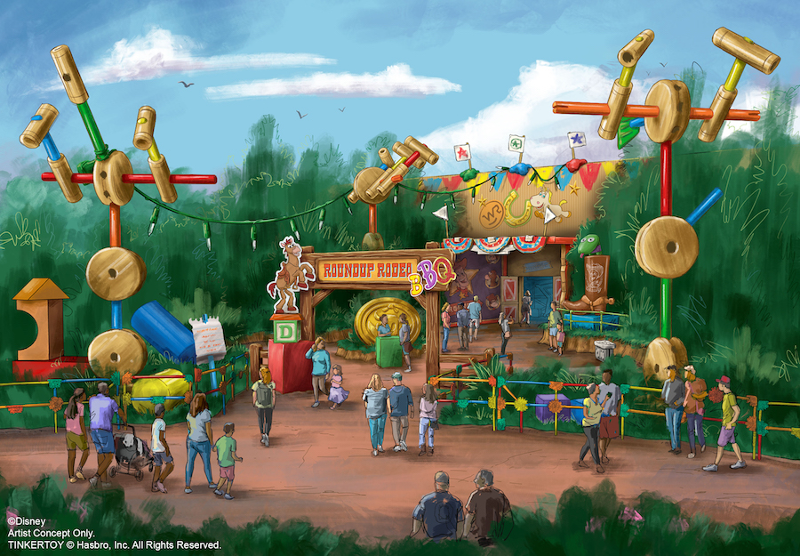 Restaurant BBQ Roundup Rodeo concept-art
